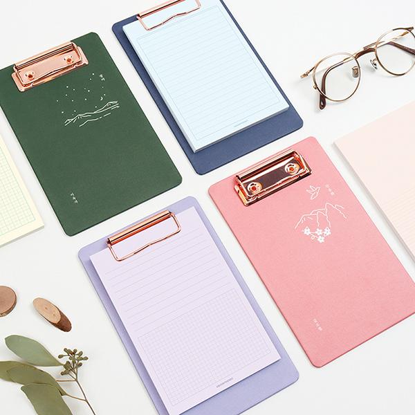 한국문학 메모패드 클립보드 - 산유화