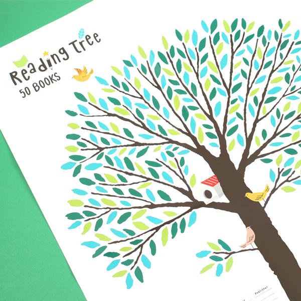 독서나무 스티커 L 10개 세트 - 그린