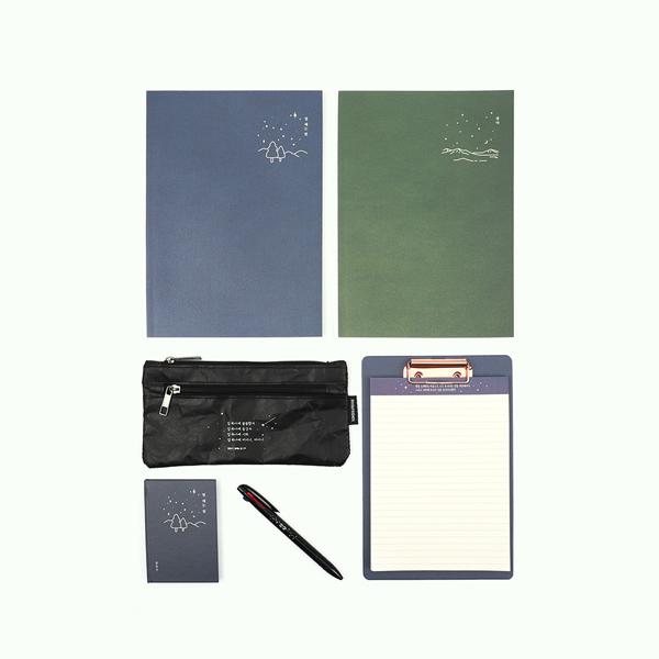 한국문학 스터디 문구세트 - 블루