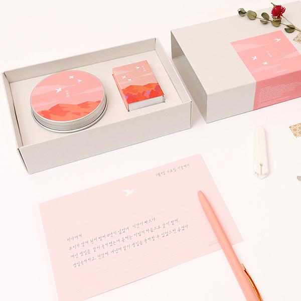 한국문학 캔들 기프트 세트 - 산유화
